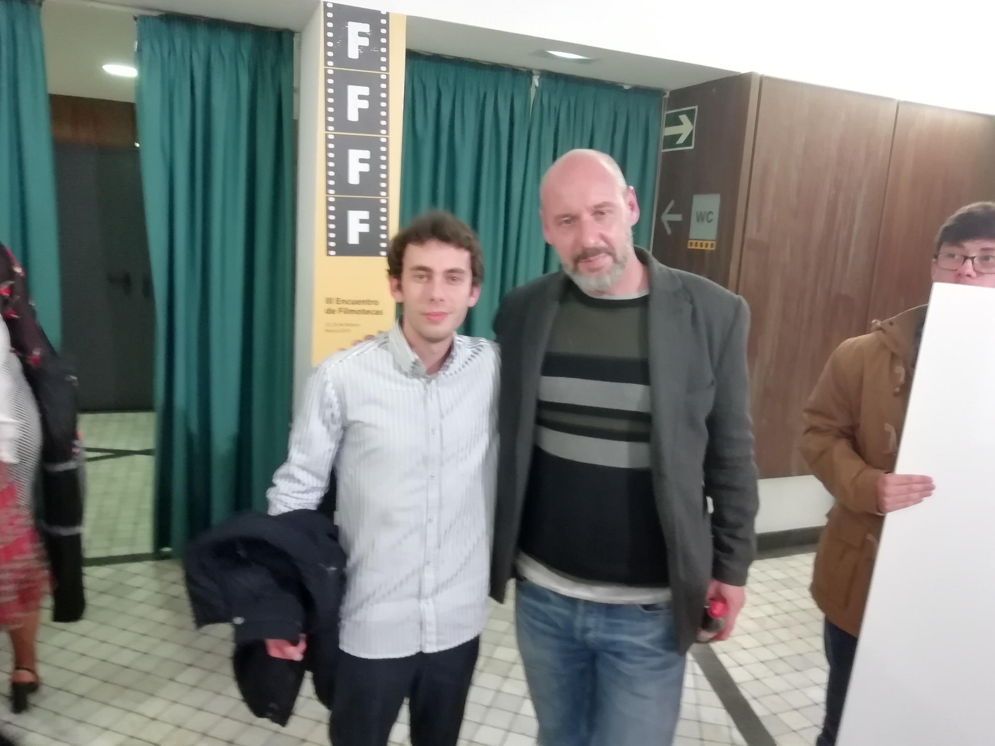 Nuestros alumnos con Jaume Balagueró